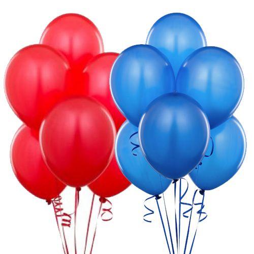 Kırmızı Mavi balon
