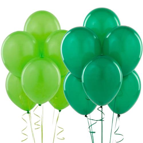 Koyu ve açık yeşil balon