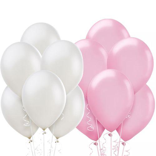 pembe beyaz balon