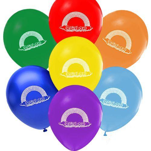 gökkuşağı Temalı baskılı balon