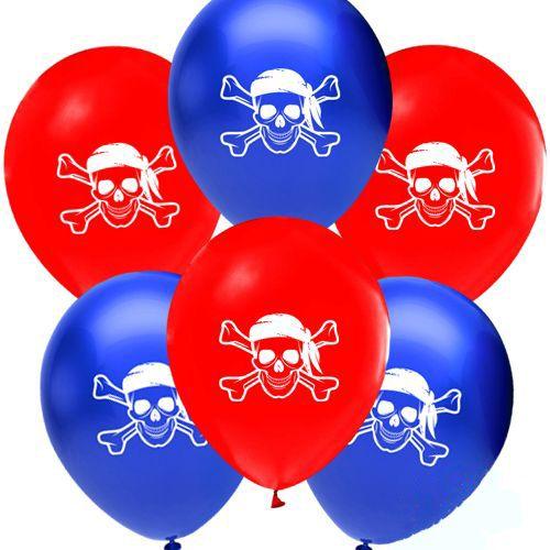 Korsan Temalı baskılı balon
