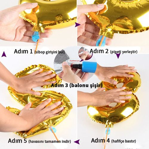 Folyo Balon Nasıl Şişirilir ve Nasıl İndirilir