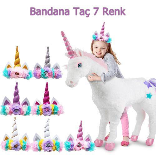Unicorn Bandana Taç Boynuzlu At