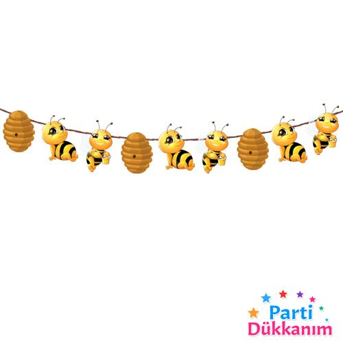 Arı Temalı dekoratif banner