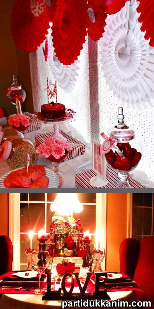sevgililer günü için süsleme önerileri