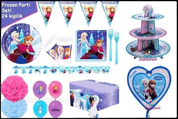Frozen karlar ülkesi prensesi elsa ana parti fikirleri