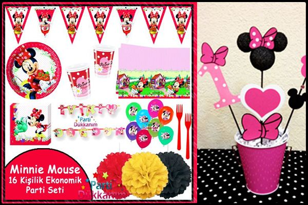 minnie mouse parti seti