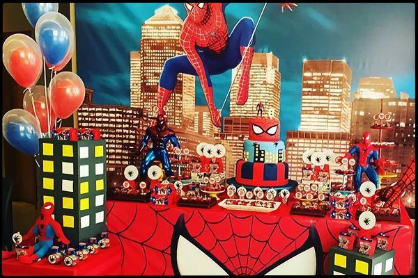 Spiderman Örümcek Adam doğum günü parti fikirleri