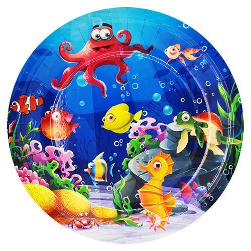 deniz canlıları tabak