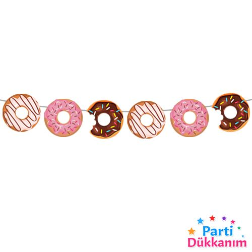 donut temali dekoratif banner