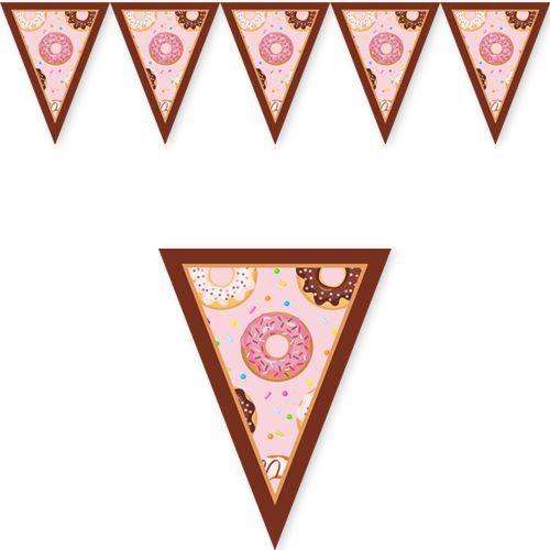 donut temali flama bayrak