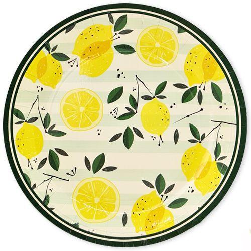 limon temalı tabak