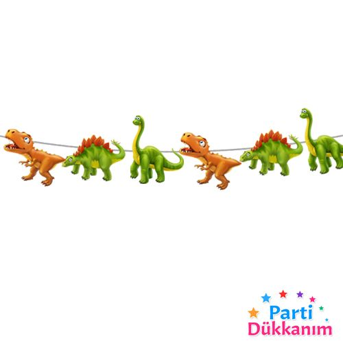 sevimli dinozor dekoratif banner