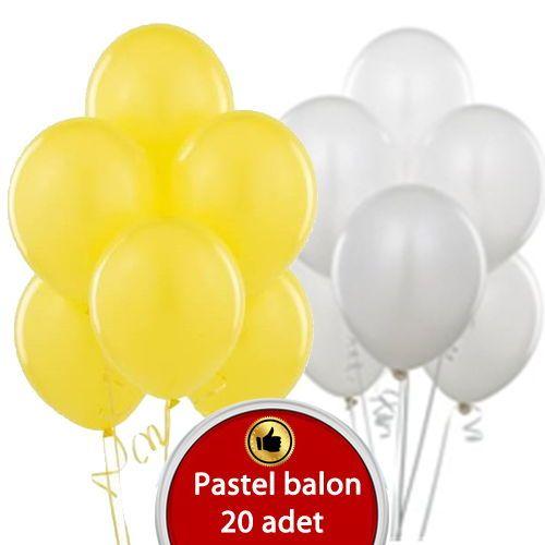 Beyaz -Sarı balon