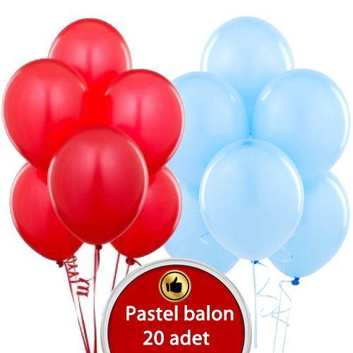 Açık mavi Kırmızı Sedefli Balon