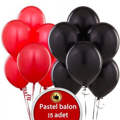 kırmızı siyah balon