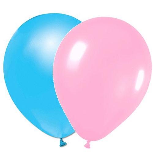 Mavi pembe sedefli balon
