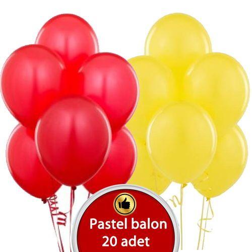 Sarı kırmızı balon