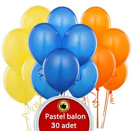 Sarı Mavi Turuncu Balon