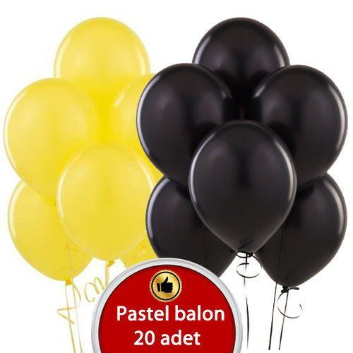 Siyah sarı Balon