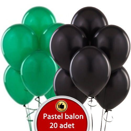 siyah yeşil balon
