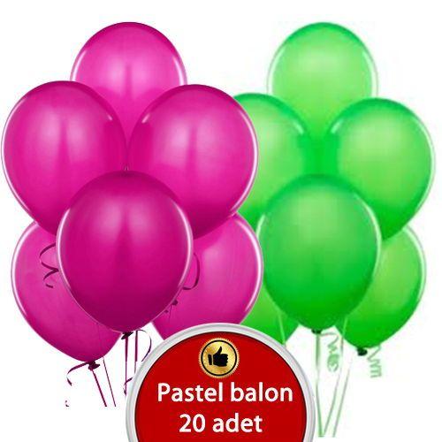 Yeşil fuşya Balon 20 adet