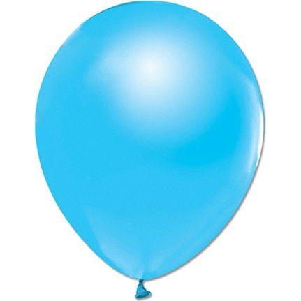 Açık mavi sedefli balon