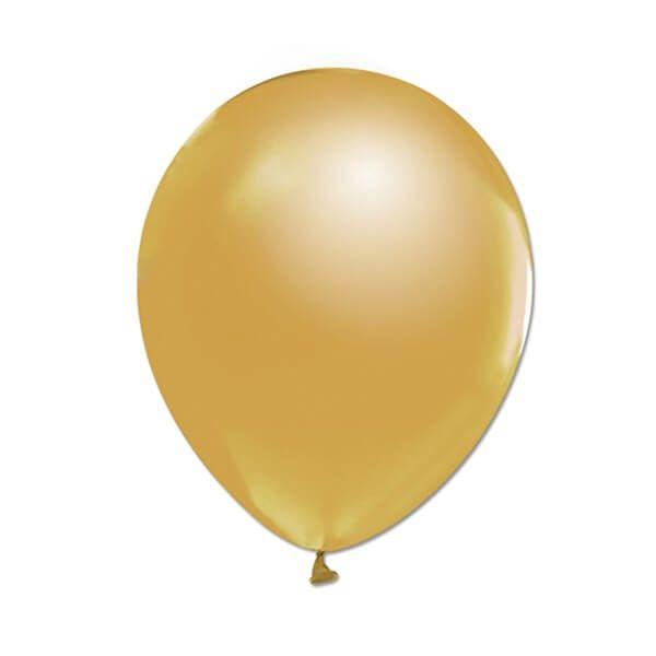 altın renkli metalik balon
