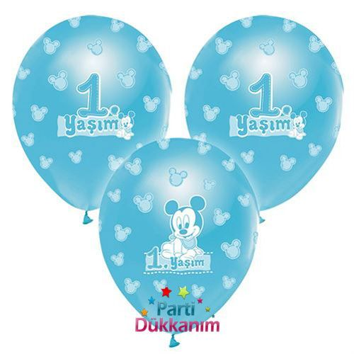 1 Yaş Mickey Mouse Balon