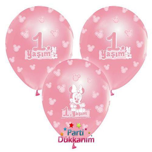 1 yaş Minnie Mouse Balon