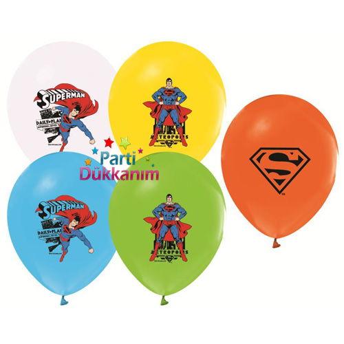 Supermanbaskılı balon