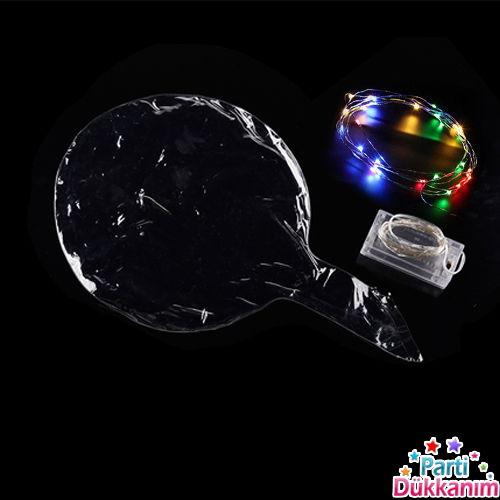 Şeffaf Balon Işıklı Ledli