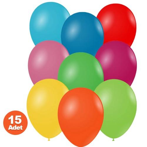 karışık renkli balon