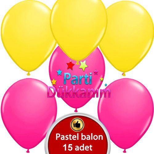 fuşya sarı Balon 20 adet