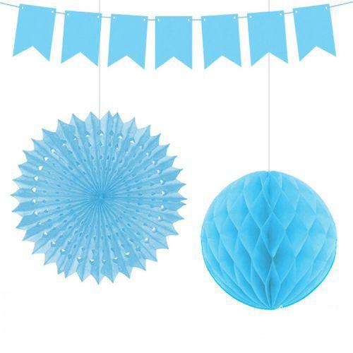 Mavi Doğum Günü Dekorasyon Seti (3 lü), fiyatı