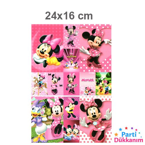 Minnie Mouse Sticker 24x16 cm 1 Adet, fiyatı