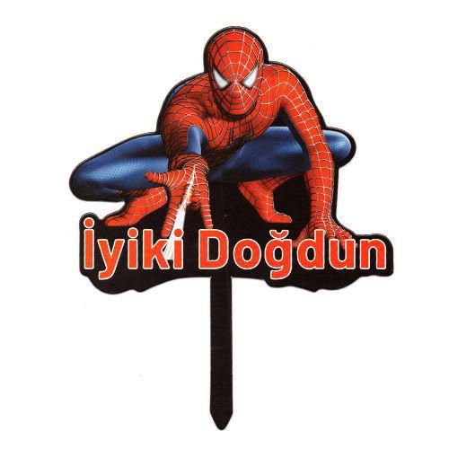 Spiderman Karton Pasta Süsü, fiyatı