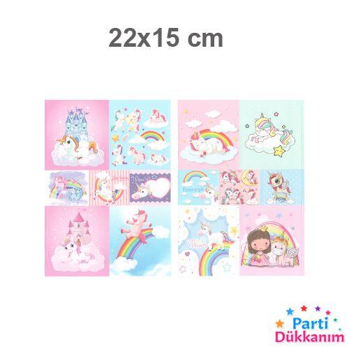 Unicorn Sticker 22x15 cm 1 Adet, fiyatı