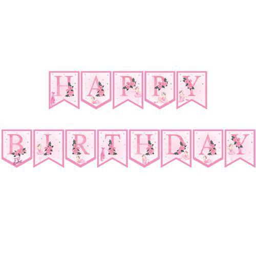 Balerin Temalı Happy Birthday Yazısı 190 cm, fiyatı