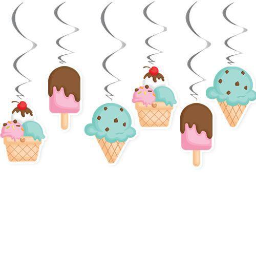 Dondurma Temalı Tavan Süs 6 Adet, fiyatı