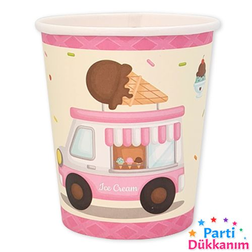 Dondurma Temalı Bardak 8 adet, fiyatı
