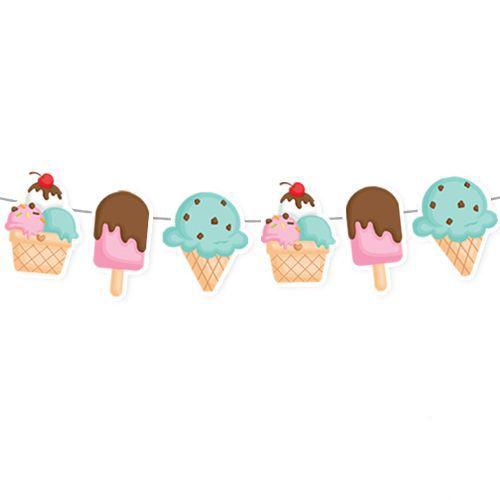 Dondurma Temalı Dekoratif Banner 160x17 cm, fiyatı