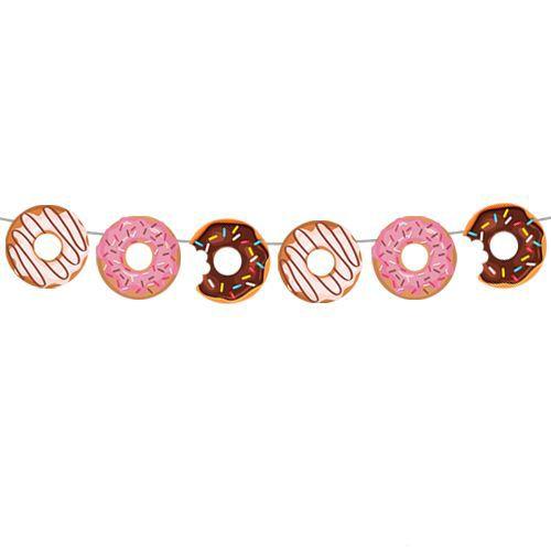 Donut Temalı Dekoratif Banner 160x17 cm, fiyatı
