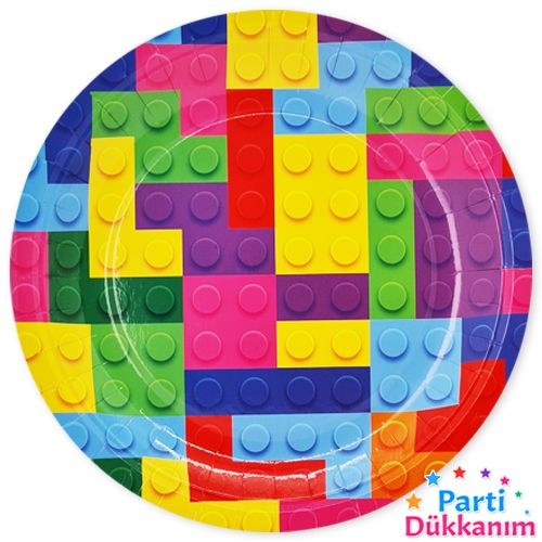 Lego Temalı Tabak 8 adet, fiyatı