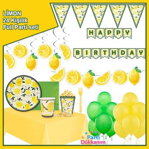 Limon Temalı 24 Kişilik Full Parti Seti, fiyatı