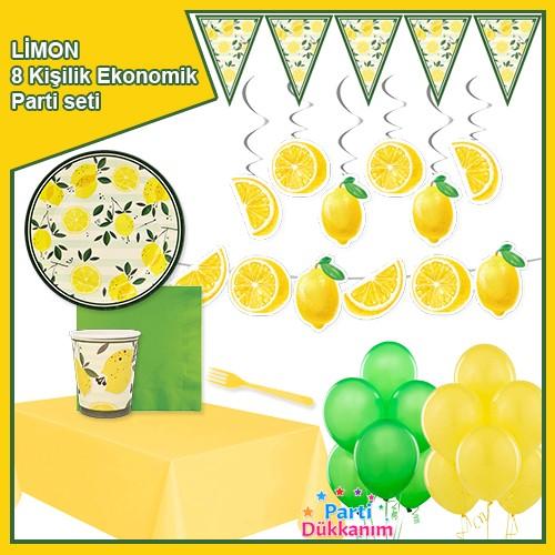 Limon Temalı 8 Kişilik Ekonomik Parti Seti, fiyatı