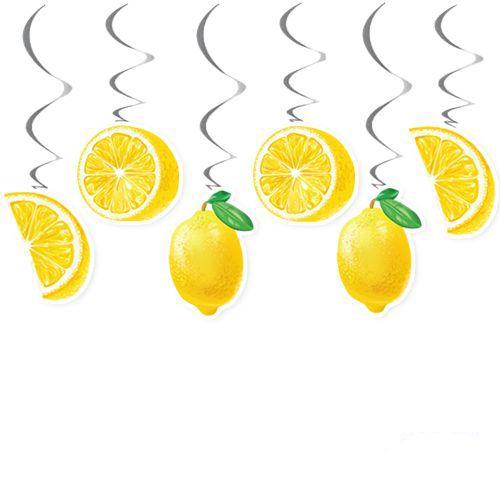 Limon Temalı Tavan Süs 6 Adet, fiyatı