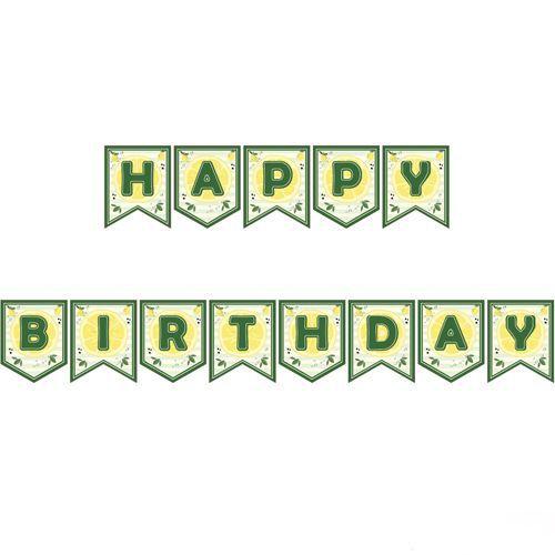 Limon Temalı Happy Birthday Yazısı 190 cm, fiyatı