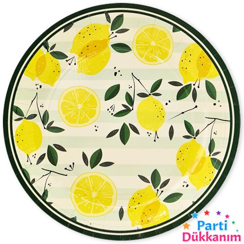 Limon Temalı Tabak 8 adet, fiyatı