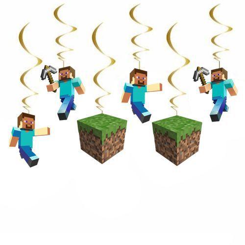 Minecraft Asmalı Tavan Süsü (6 Adet), fiyatı